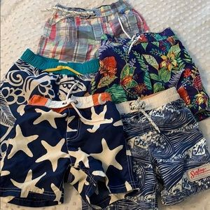 5 Toddler boy swimsuits sz 4